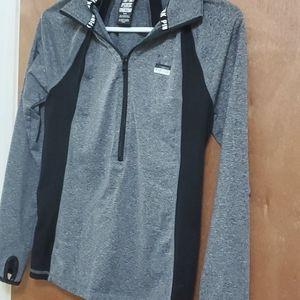 VS Pink Athletic Half Zip Sweater